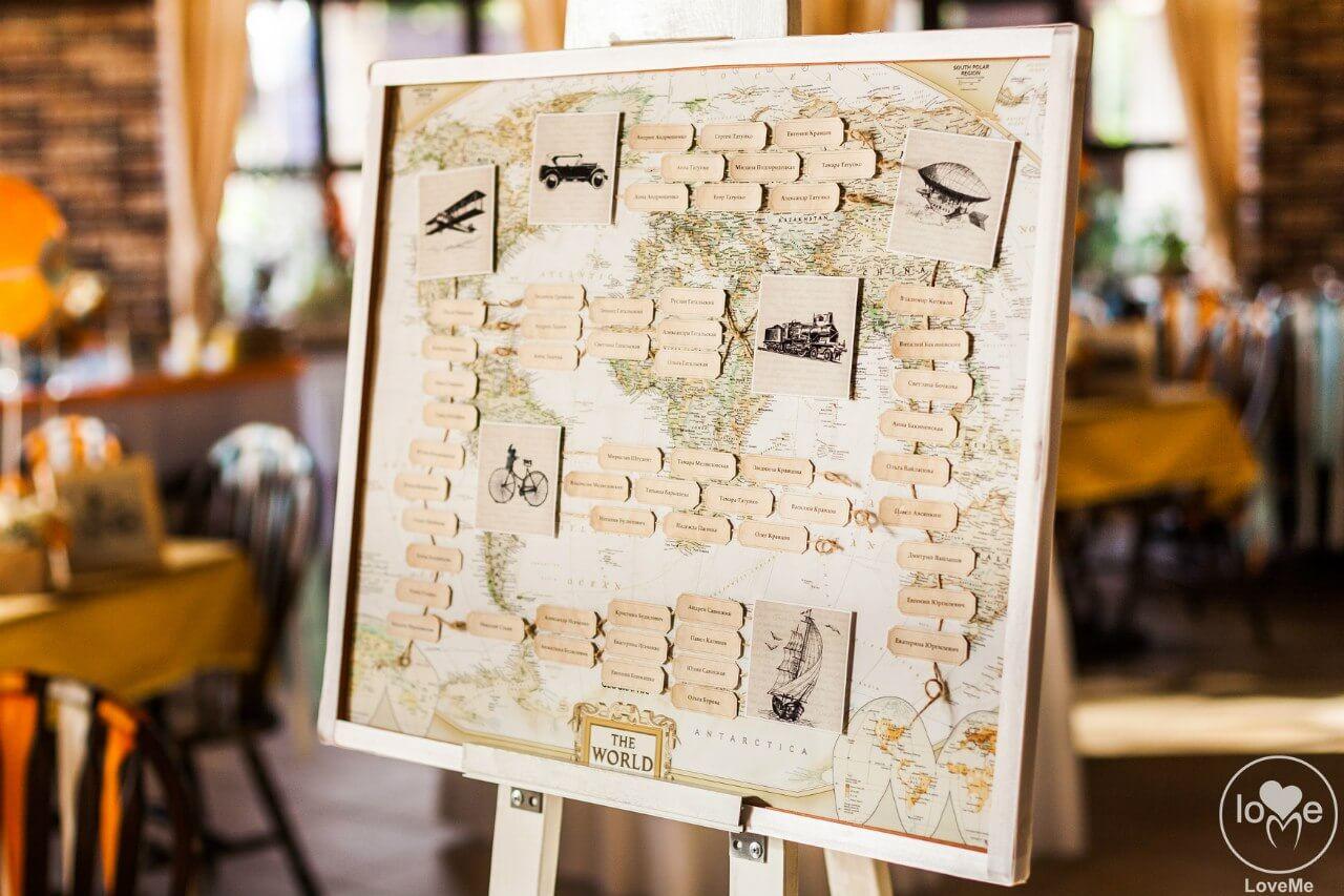 план рассадки гостей Свадьба в стиле путешествия Шале Могилев Организация свадьбы декор украшение зала свадебное агентство ЛавМи