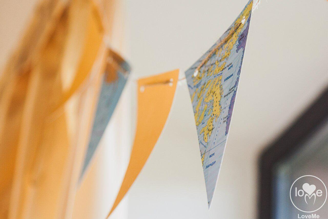 тругольные флажки Свадьба в стиле путешествия Шале Могилев Организация свадьбы декор украшение зала свадебное агентство ЛавМи