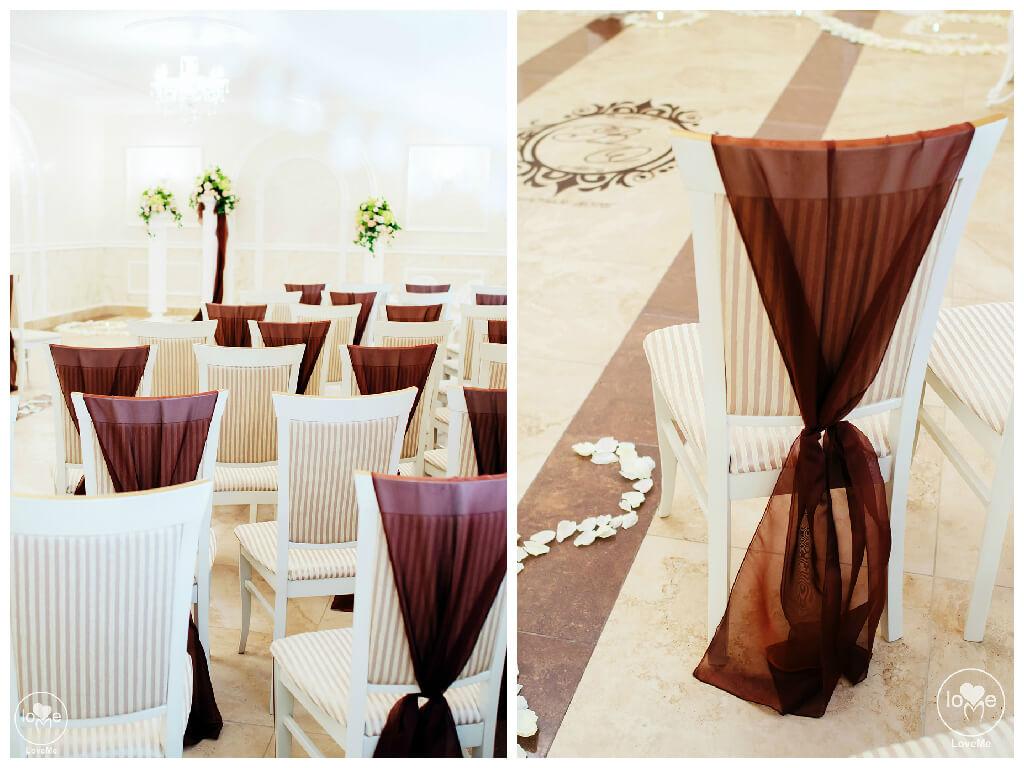 Шоколадная кофейная свадьба выездная регистрация роспись церемония любужский замок могилев свадебное агентство ЛавМи организация декор банкетного зала ресторана украшение свадьбы