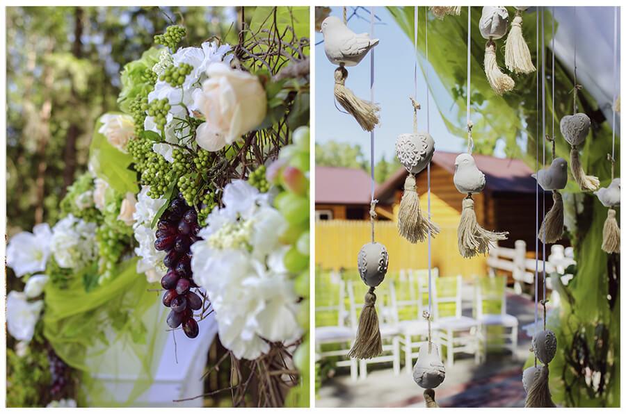 арка итальянская зеленая салатовая свадьба выездная регистрация церемония роспись в шатре у куркуля могилев свадебное агентство ЛавМи декор украшение шатра организация